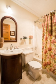 one of the 2 bathrooms in rental home